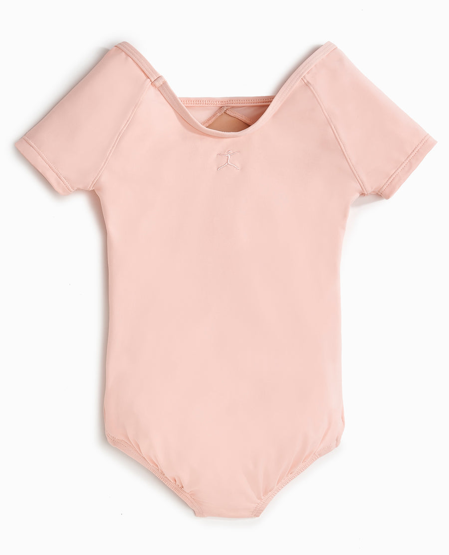 Girl's NYCB Ballet Mesh Short Sleeve Leotard