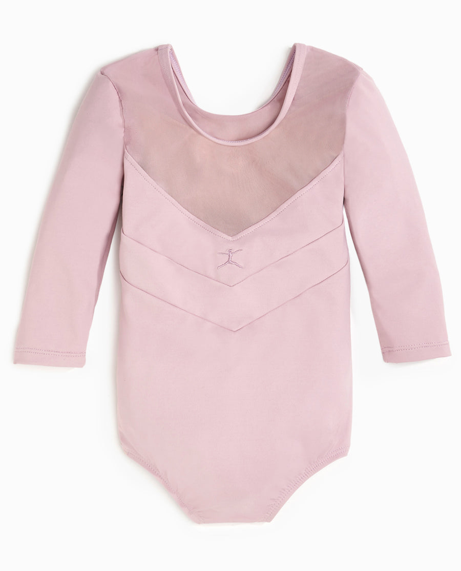 Girl's NYCB V-Mesh 3/4 Sleeve Leotard