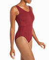 Sleeveless Quilted Cotton-Blend Leotard