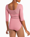 NYCB Illusion Mesh Neckline Leotard