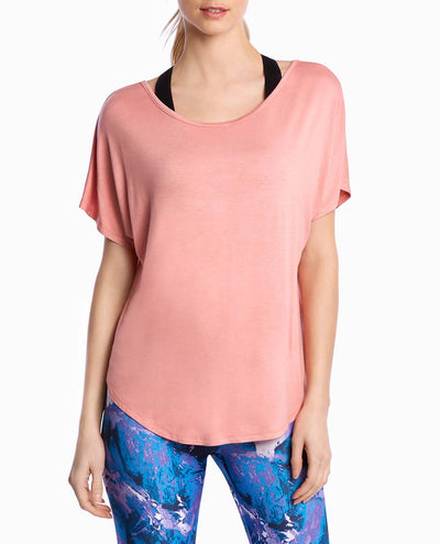 Dolman Sleeve Criss-Cross Back Top