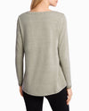 Wide-Neck Hi Low Pullover