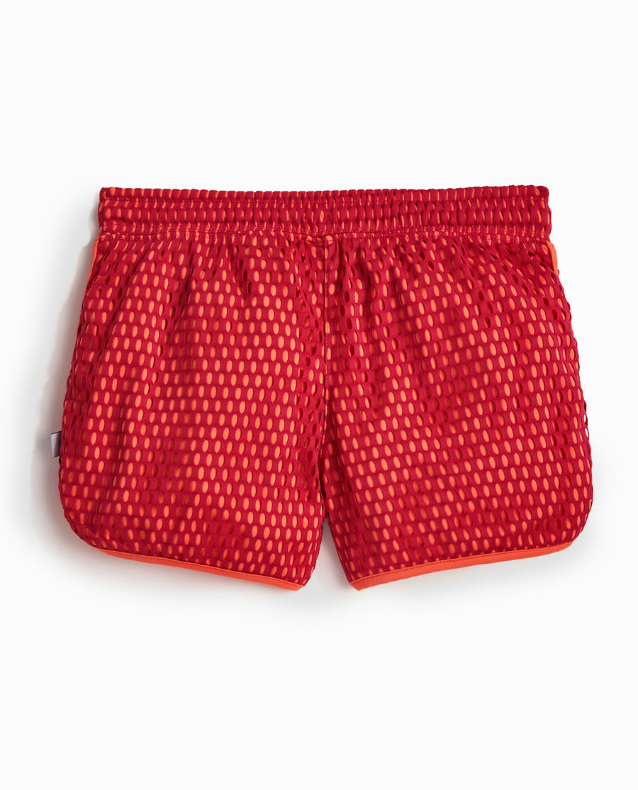 Girl's Mesh Overlay Short