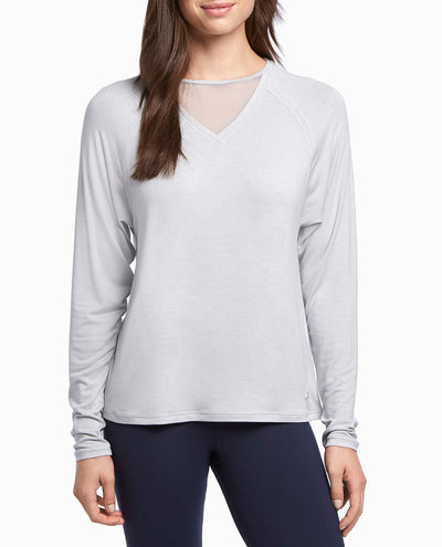 Mesh Inset Long Sleeve Top