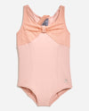 Girl's Gathered Mesh Leotard