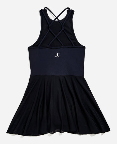 Girl's Collared Leotard Dress