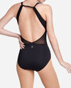 Textured Mesh Scoopback Leotard