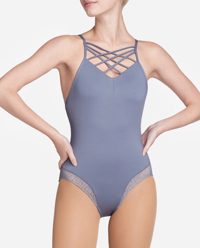 Strappy Cami Mesh Leotard