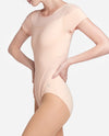 Illusion Neckline Cap Sleeve Leotard