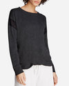 Twist Front Long-Sleeve Pullover Sweatshirt