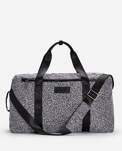 Black & White Dot Print Duffle Bag