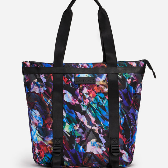 Floral Scape Print Convertible Tote Bag