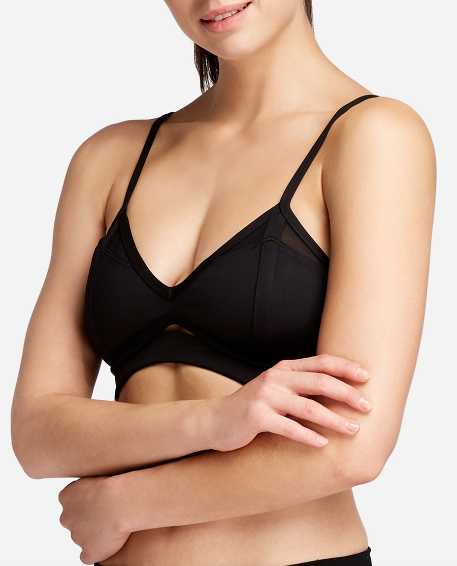 Cut Out Mesh Sports Bra