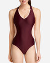 V-Neck Racerback Mesh Leotard