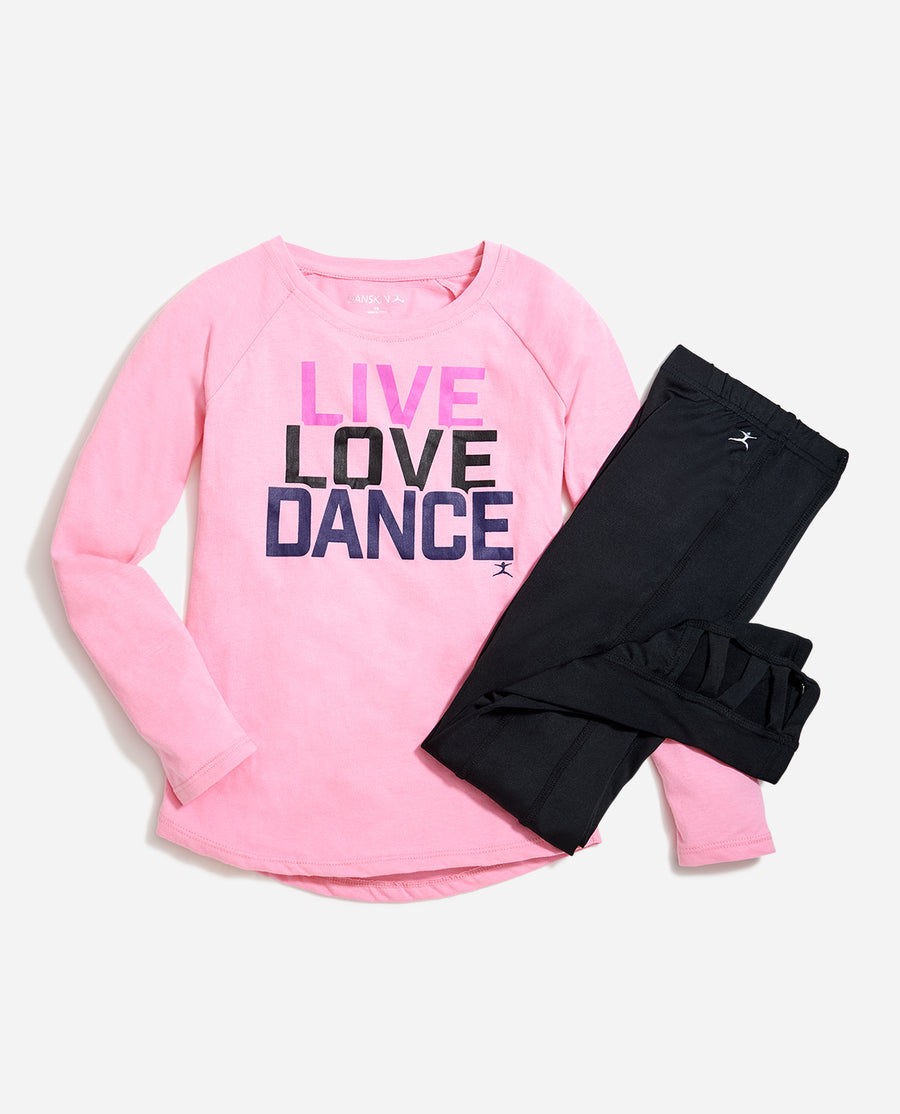 Girl's Live Love Dance 2-Piece Set