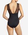 Women's Crossbar Sheer Mesh Leotard