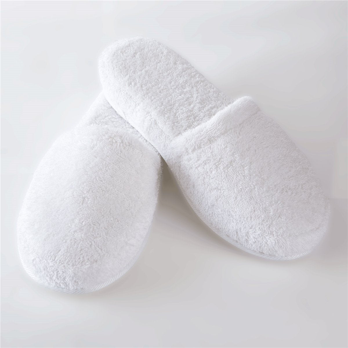 Turkish Terry Slippers, Medium and Large, White, Navy, Pink, Lavender, Steel, Black, Charcoal - Soft & Plush Comfortable Lounging