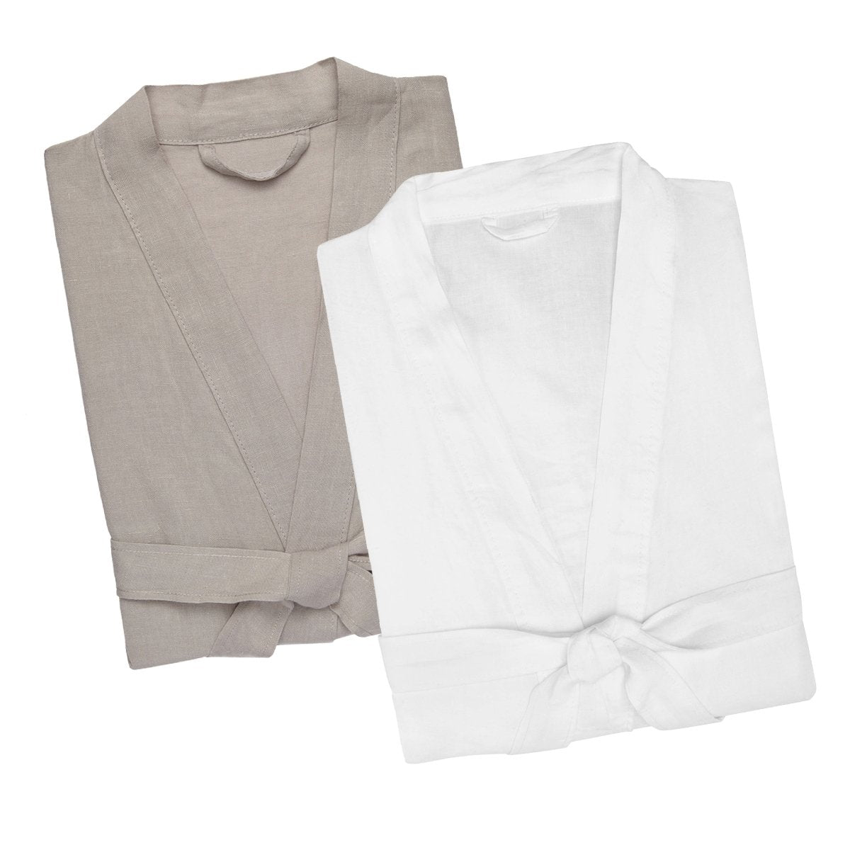 Men's Linen Bath Robe - SM