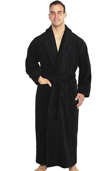 Shawl Turkish Robe - Black