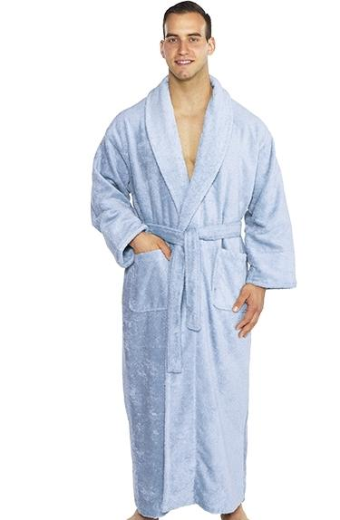 Plush Embroidered Robe Monogrammed Personalized Long Blue Bath Robe Gifts for her