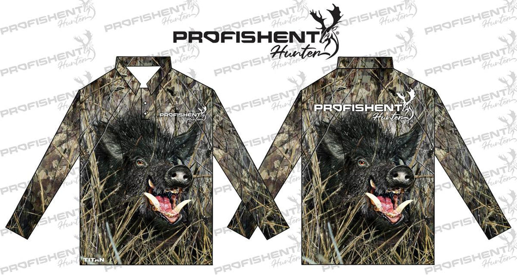 Profishent Sublimated L/S Blk Camo Pig Large