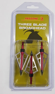 Red Zone 3 Blade 125g 3pk Broadheads