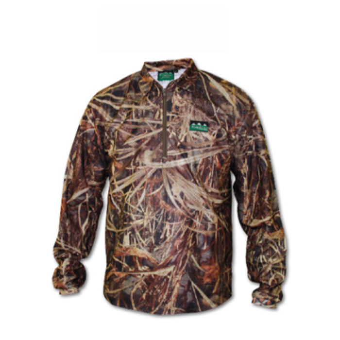 Ridgeline Sable Airflow Long Sleeved Zip Top - Grassland Camo - Size S