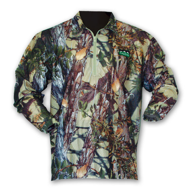 Ridgeline Sable Airflow Long Sleeved Zip Top - Buffalo Camo -Size M