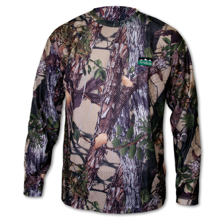 Ridgeline Sable Airflow Long Sleeve Shirt - Buffalo Camo -Size M