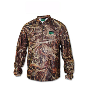 Ridgeline Sable Airflow Long Sleeved Zip Top - Grassland Camo - Size XL
