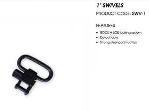 "Spika 1"" Swivels 2 pack SWV-1"