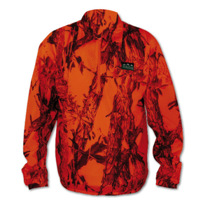 Ridgeline Sable Airflow Long Sleeved Zip Top - Blaze Camo - Size M
