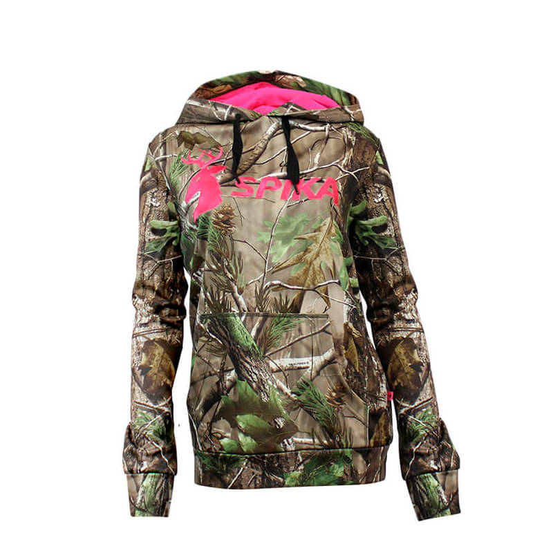 Spika Go Womens Classic Hoodie Biarri Camo Medium