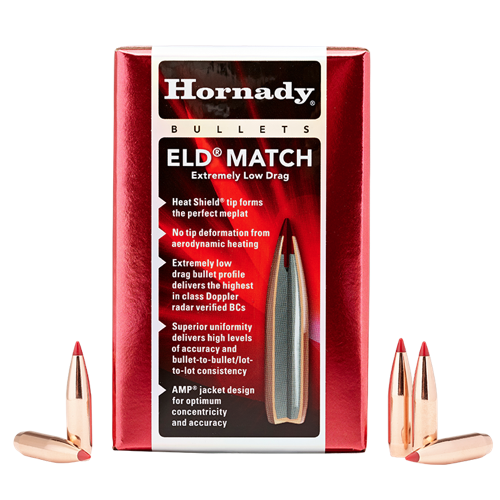 Hornady 6.5mm 130Gr ELD Match 100pk No 26177