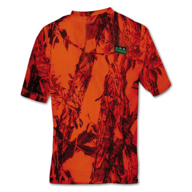 Ridgeline Sable Airflow Short Sleeved T Shirt - Blaze Camo - Size L