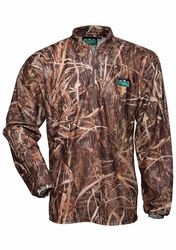 Ridgeline Sable Airflow Long Sleeved Zip Top - Grassland Camo - Size XS