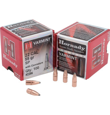 Hornady .22 55Gr SP 100Pk Bag No 2266