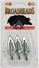 Red Zone 2 Blade 120g 3pk Broadheads