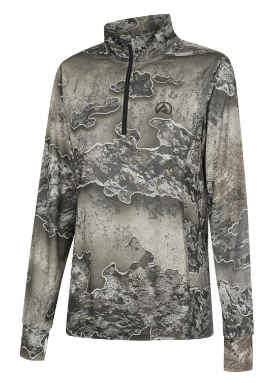 Ridgeline Mens Micro Lite Zip Top Excape Camo 3XL