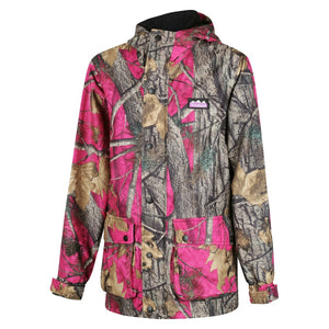 Ridgeline Ladies Mallard Jacket - Size XL / 16 - Pink Nature Camo