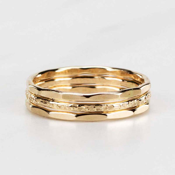 gold stack ring set