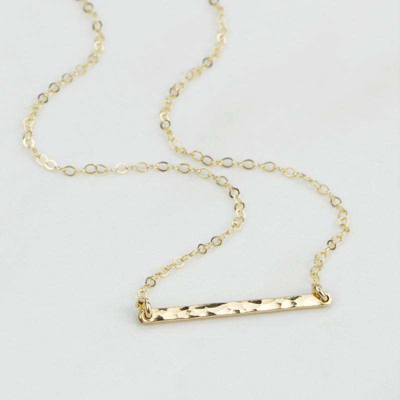 bar layering necklace