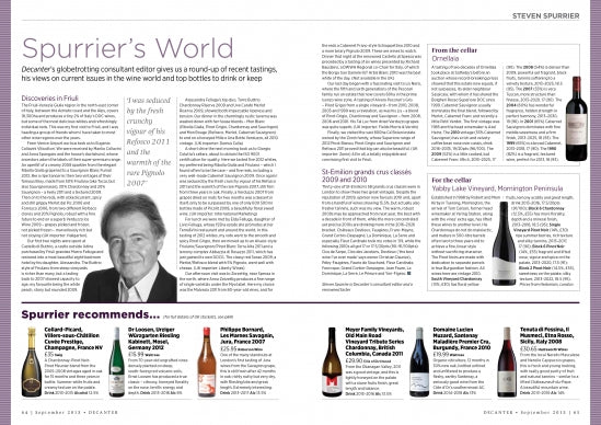 2011 Tribute Series in DECANTER Magazine!