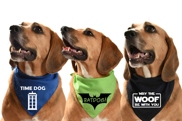 Film/TV and music dog bandanas