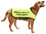 printed dog coat = communicoat i need space give me space yellow dog please give me some space