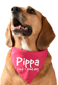 personalised dog bandana / scarf with dogs name