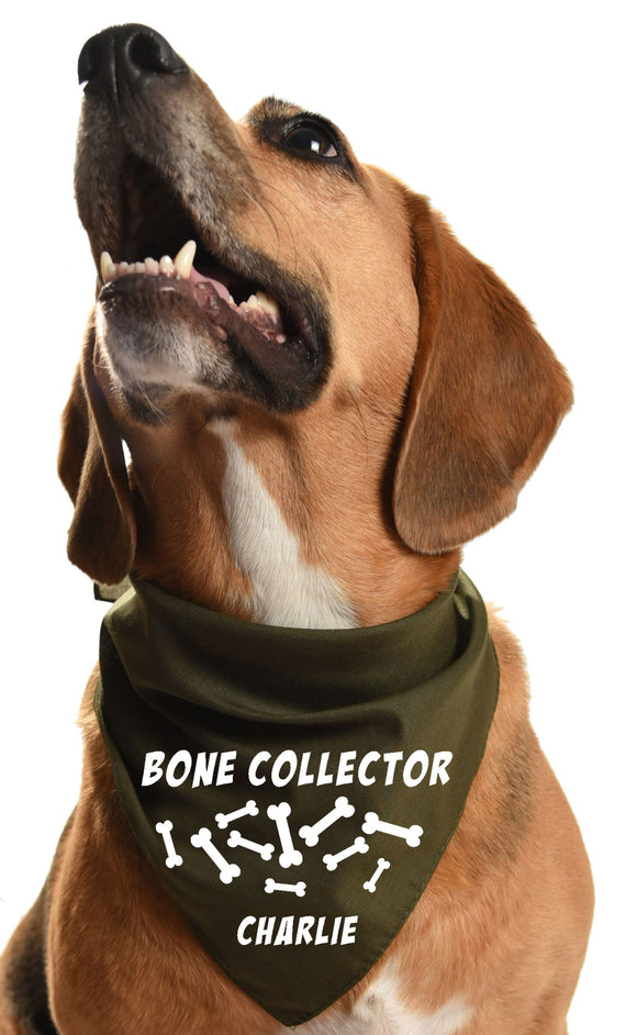 bone collector halloween dog bandana howloween party dog bonez