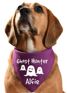 ghost hunter halloween howloween dog bandana scarf scary
