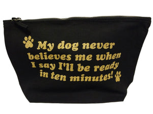 black make up bag for dog lover