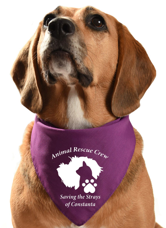 animal rescue crew dog bandana fundraising rehoming
